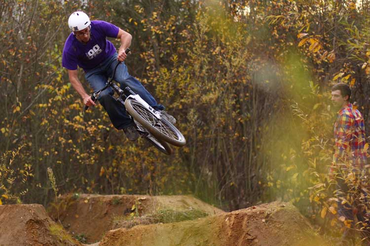 Frank Heinrich riding the a-town trails