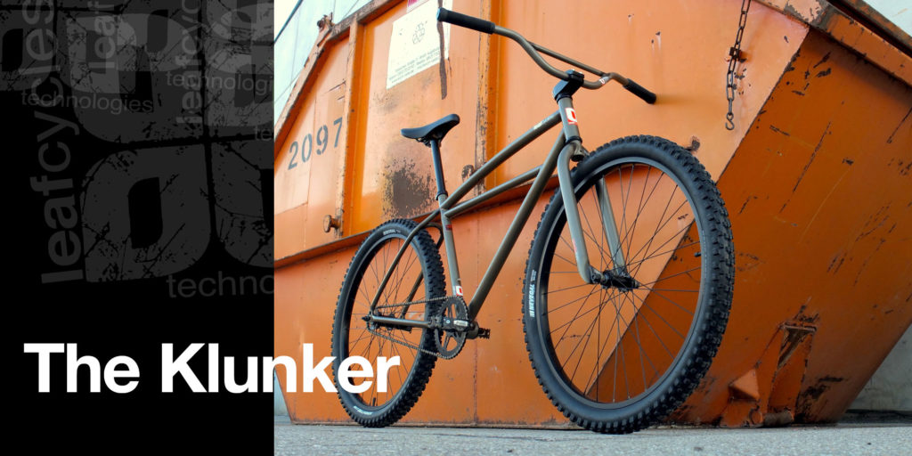 The Leafcycles Klunker Bicycle - pure simplicity - color: phosphated
