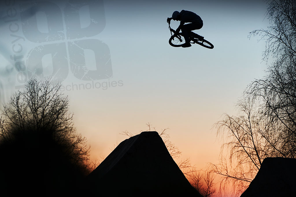 leafcycles sunset dirt jumping session