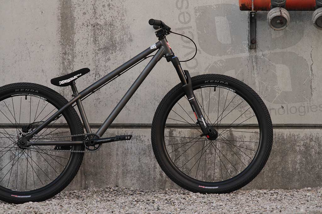 leafcycles ruler pro complete dirt jumping bike - phosphated